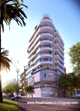 Building of New Apartments by the Golf Course in Punta Carretas in Montevideo