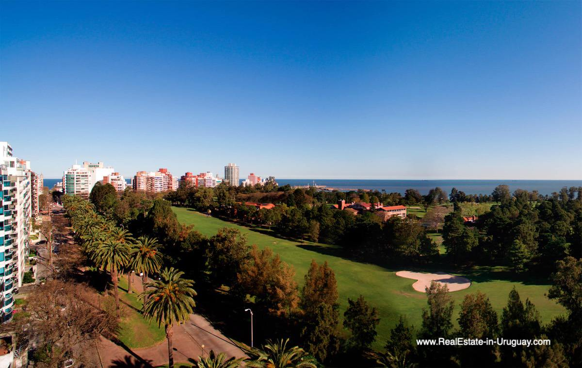 Views of New Apartments by the Golf Course in Punta Carretas in Montevideo