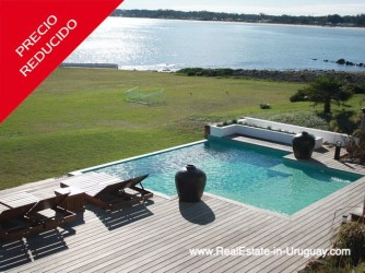 Pool of Ocean Frontline Home in Punta Ballena near Punta del Este