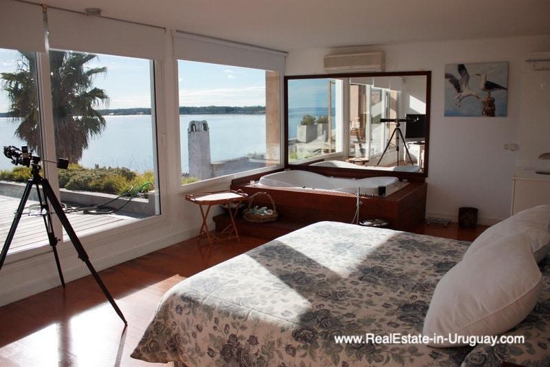 Master Bedroom of Ocean Frontline Home in Punta Ballena near Punta del Este
