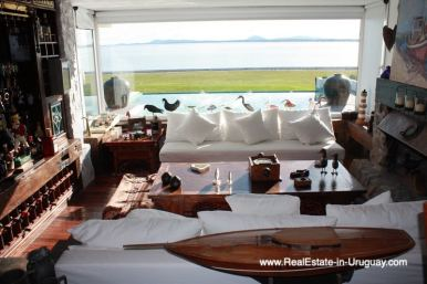 Living Room of Ocean Frontline Home in Punta Ballena near Punta del Este