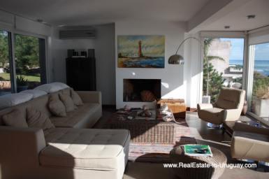 Living Area of Ocean Frontline Home in Punta Ballena near Punta del Este