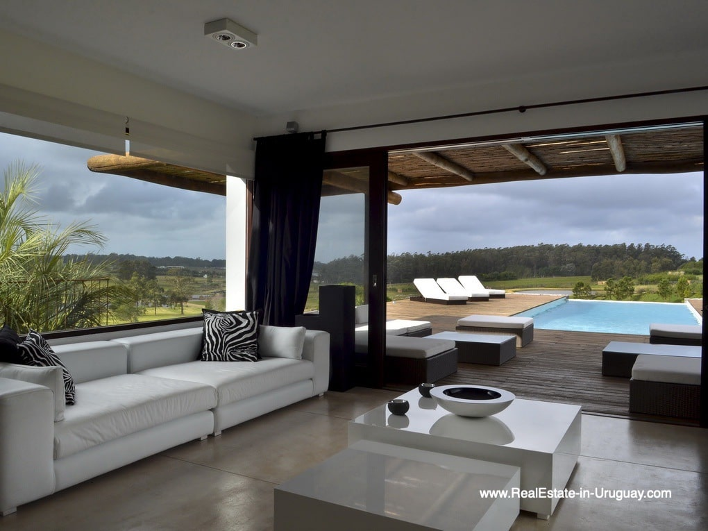 Living Area of Property in La Morada near the Beach Town Manantiales