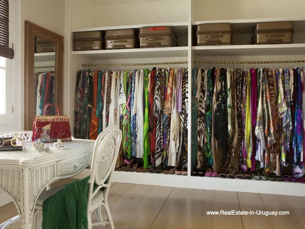 Closet of Luxury Country Ranch by Golf Course La Barra outside Punta del Este