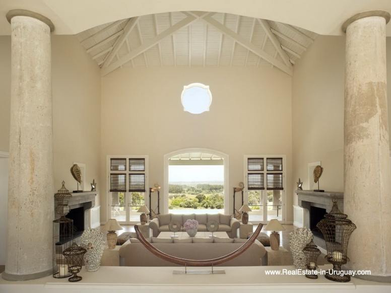 Hall of Luxury Country Ranch by Golf Course La Barra outside Punta del Este