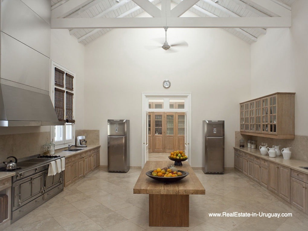 Kitchen of Luxury Country Ranch by Golf Course La Barra outside Punta del Este