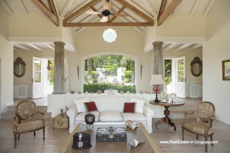 Living room of Country Style Ranch near the Golf Course of La Barra on 35 Hectares