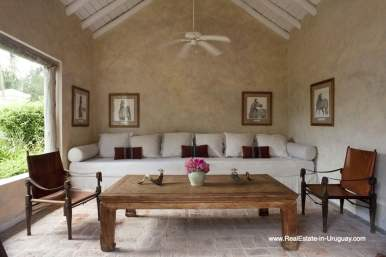 Sitting Area of Country Style Ranch near the Golf Course of La Barra on 35 Hectares