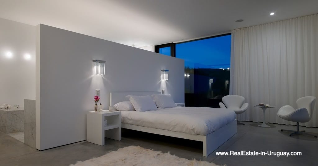 Master Bedroom of Modern Home in Gated Community Villalagos outside Manantiales