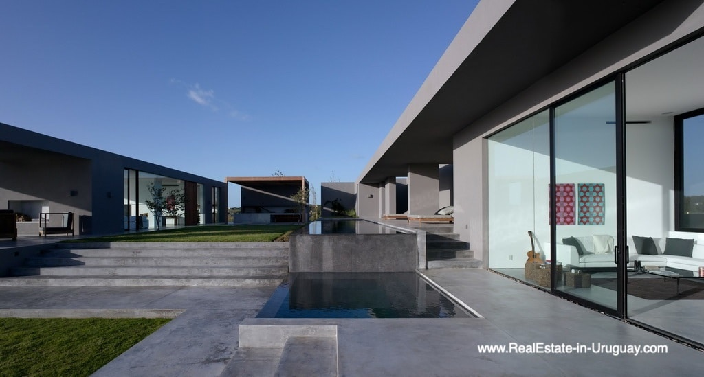Pool of Modern Home in Gated Community Villalagos outside Manantiales