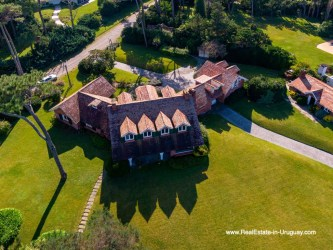 Areal View of Magnificent House in El Golf in Punta del Este