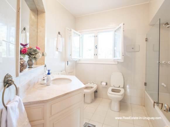 Bathroom of Magnificent House in El Golf in Punta del Este