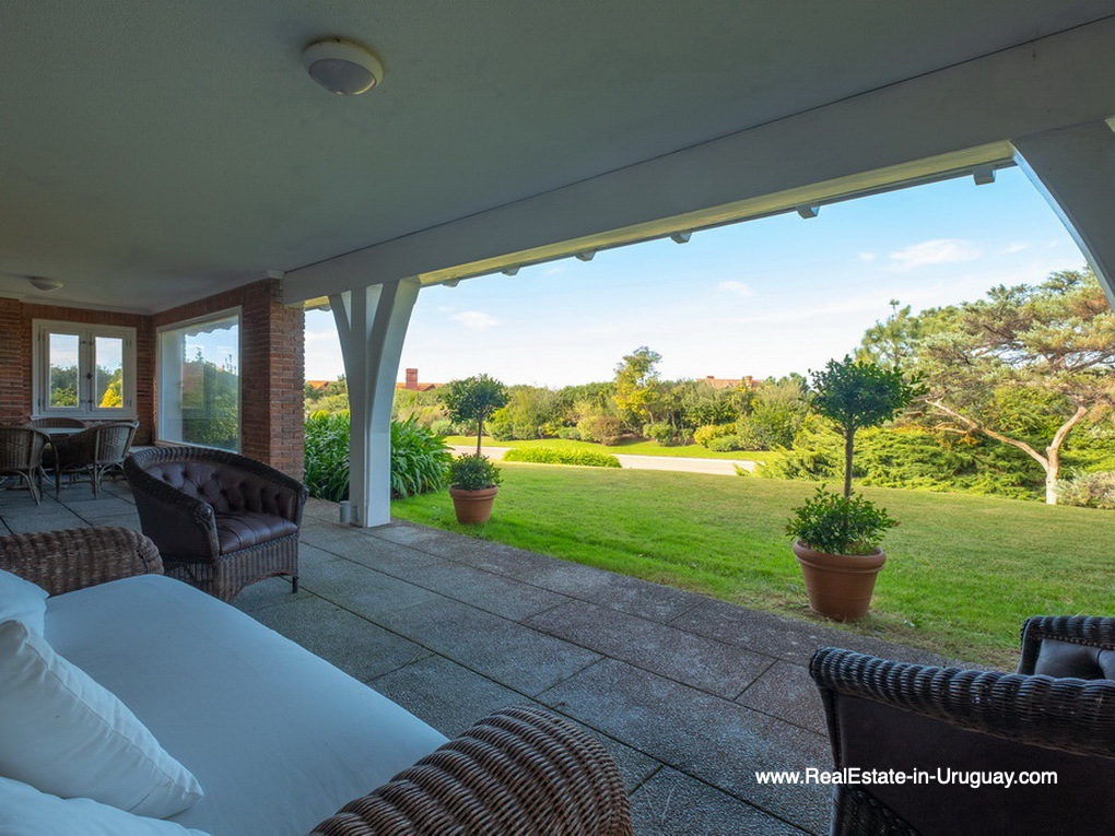 Terrace of Magnificent House in El Golf in Punta del Este