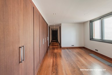 Hallway of High-Tech State of the Art and Modern Estate on the Brava Beach in Punta del Este with a large Garden