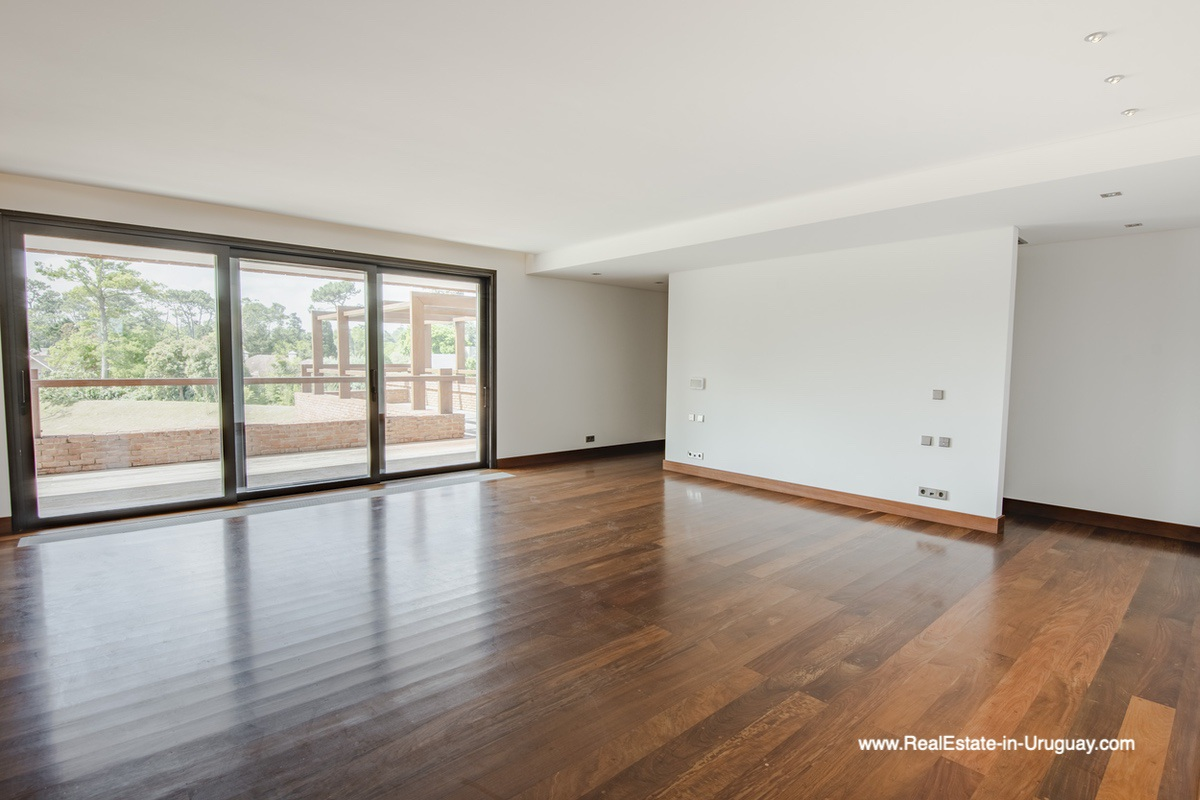 Master Bedroom of High-Tech State of the Art and Modern Estate on the Brava Beach in Punta del Este with a large Garden