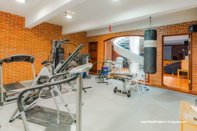Gym of Frontline Estate on the Mansa Beach in Punta del Este with incredible Views