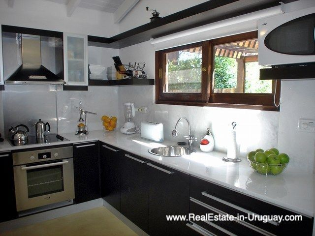 Kitchen of Renovated Pool House in La Barra
