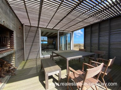 Frontline Beach Home in San Antonio close to La Pedrera in Rocha with Sea Views
