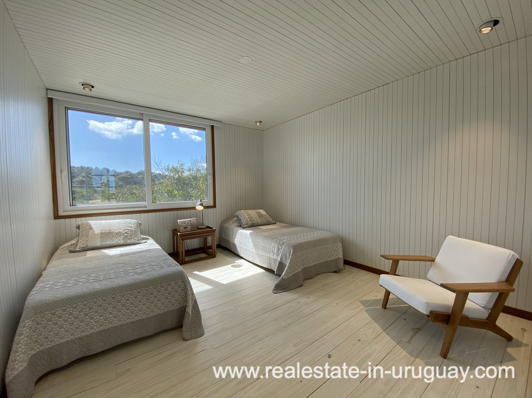 Guest Eedroom Frontline Beach Home in San Antonio close to La Pedrera in Rocha with Sea Views