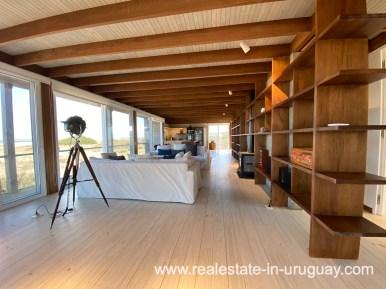 Room of Frontline Beach Home in San Antonio close to La Pedrera in Rocha with Sea Views