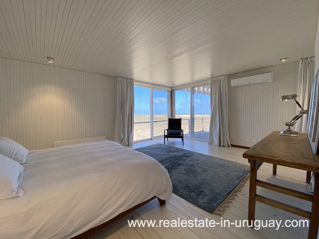 Bedroom View of Frontline Beach Home in San Antonio close to La Pedrera in Rocha with Sea Views