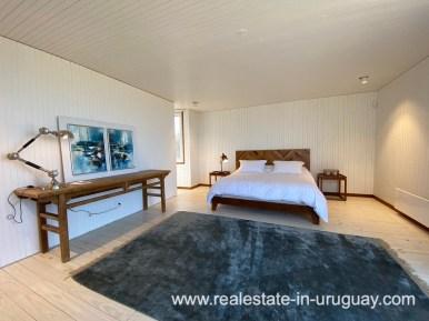 Master Bedroom Frontline Beach Home in San Antonio close to La Pedrera in Rocha with Sea Views