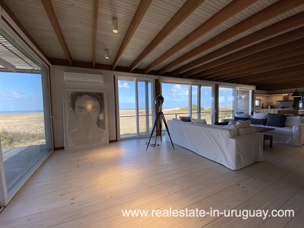Space of Frontline Beach Home in San Antonio close to La Pedrera in Rocha with Sea Views