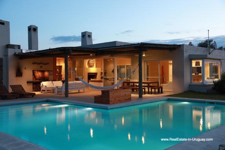 At Night Country House in Jose Ignacio with Lagoon Views