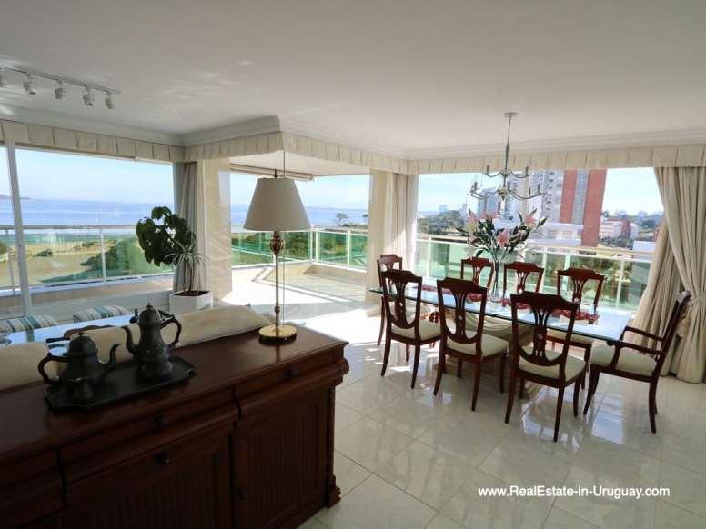 Dining Area of Apartment on the Mansa Beach in Punta del Este
