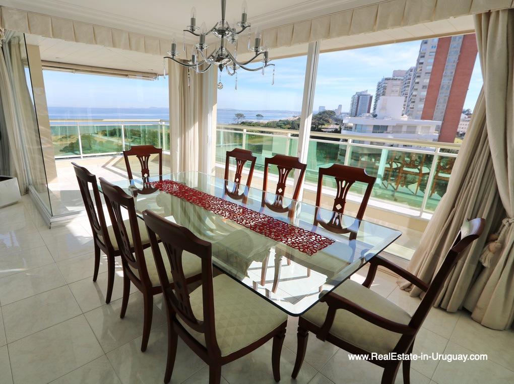 Dining Room of Apartment on the Mansa Beach in Punta del Este