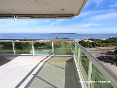Terrace of Apartment on the Mansa Beach in Punta del Este