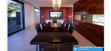 Dining Room of Modern High-Tech Home in Laguna Blanca by Manantiales