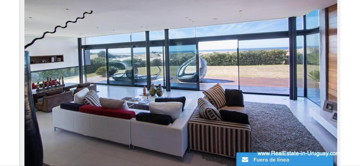 Living Space of Modern High-Tech Home in Laguna Blanca by Manantiales