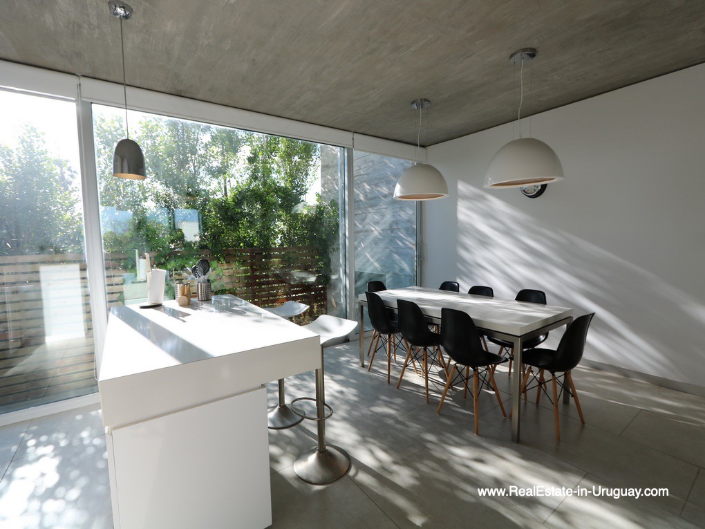 Kitchen of Beach Townhouse in La Barra by the Ocean