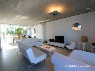 Living of Beach Townhouse in La Barra by the Ocean