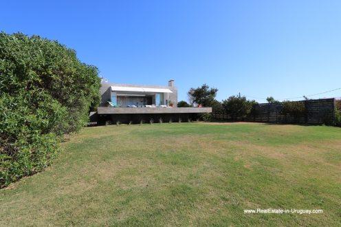 Back of the house of Modern Home in Santa Monica near Jose Ignacio on the Lagoon