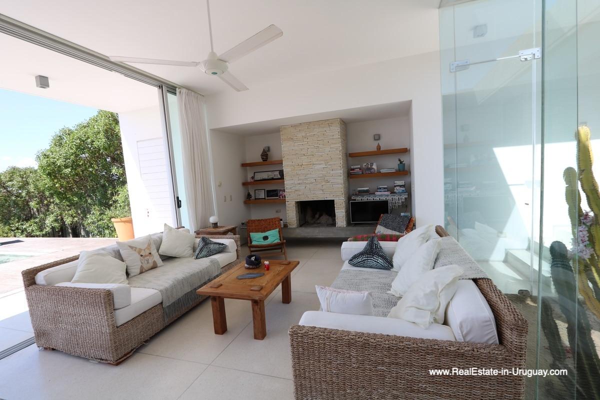 Living Room of Modern Home in Santa Monica near Jose Ignacio on the Lagoon