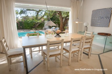 Dining of Home near the Beach in La Barra