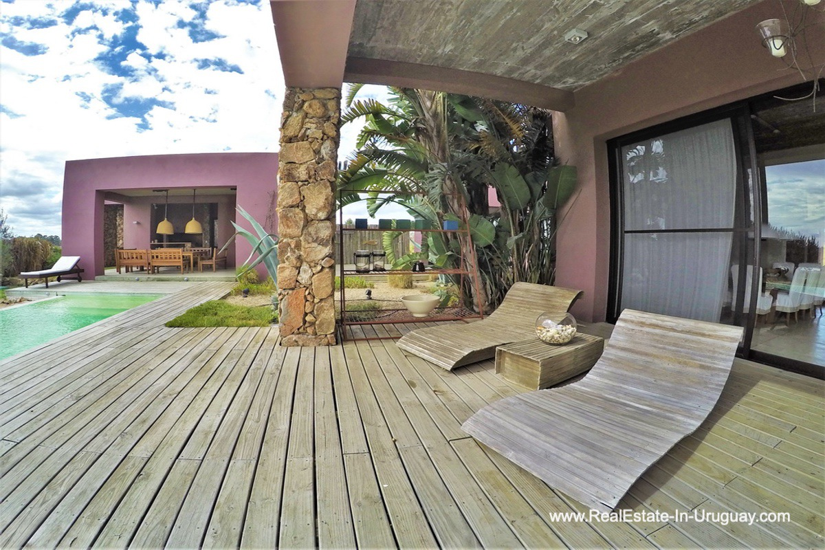 Pooldeck of Chacra in the El Quijote Gated Community outside La Barra