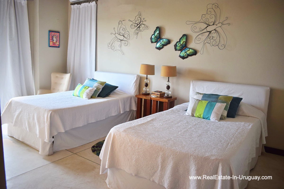 Guest Bedroom of Chacra in the El Quijote Gated Community outside La Barra