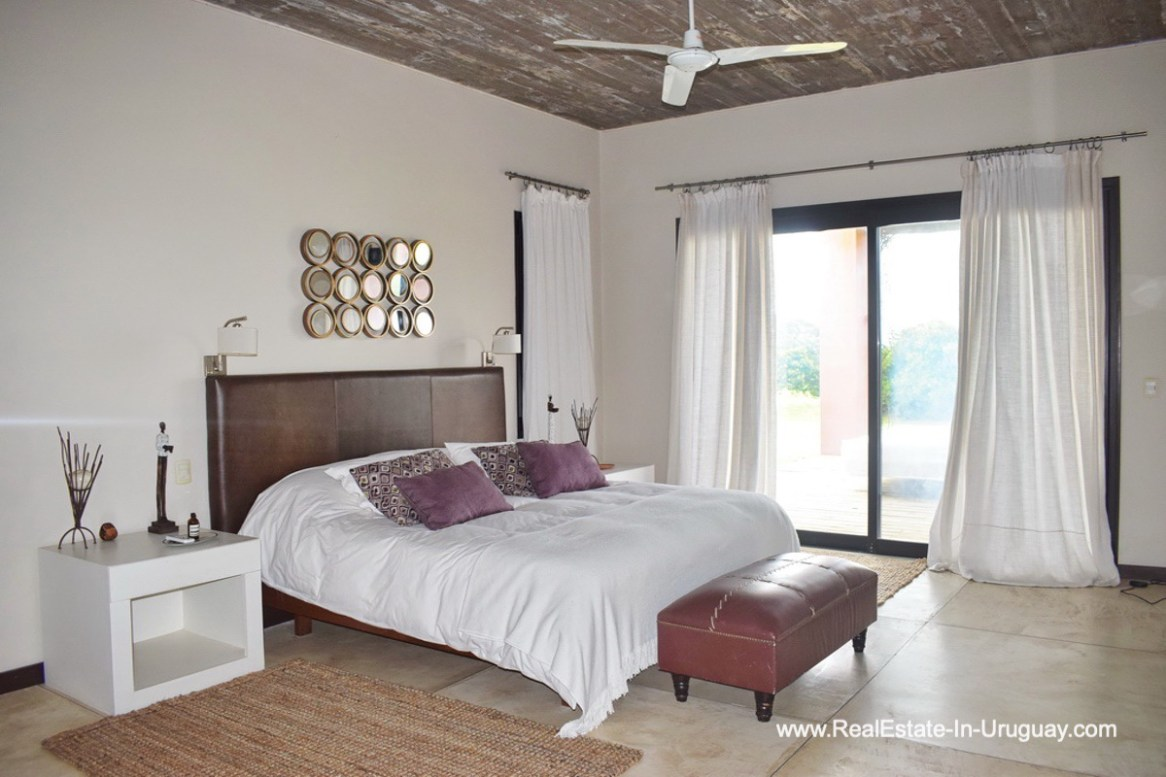 Master Bedroom of Chacra in the El Quijote Gated Community outside La Barra