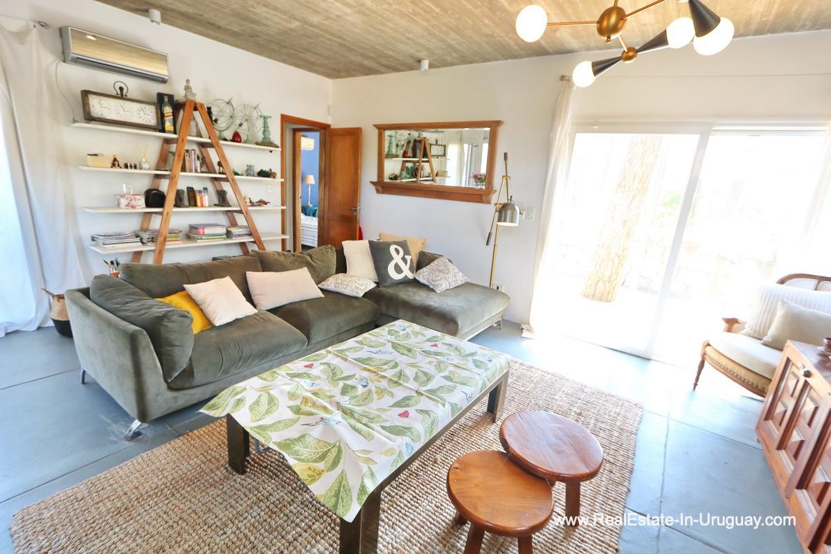 Living Area of Modern Home in the Montoya Area by La Barra