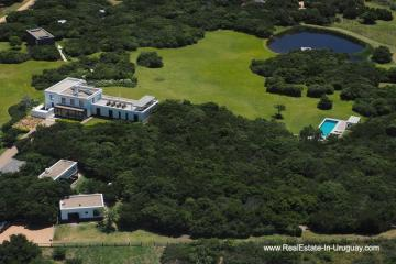 Birdeye View of Modern Country Home in Jose Ignacio