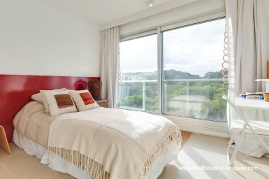 Bedroom of Apartment opposite the Ocean in Punta del Este