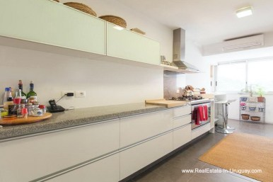 Kitchen of Apartment opposite the Ocean in Punta del Este