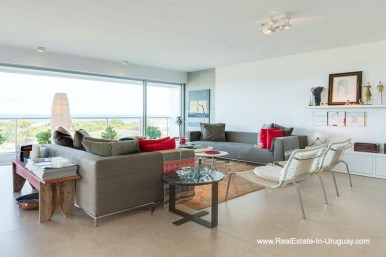 Living Room of Apartment opposite the Ocean in Punta del Este