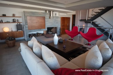 Living Area of Well Built House in Montoya by La Barra
