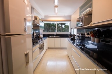 Kitchen of Spacious Apartment on the Brava in Punta del Este
