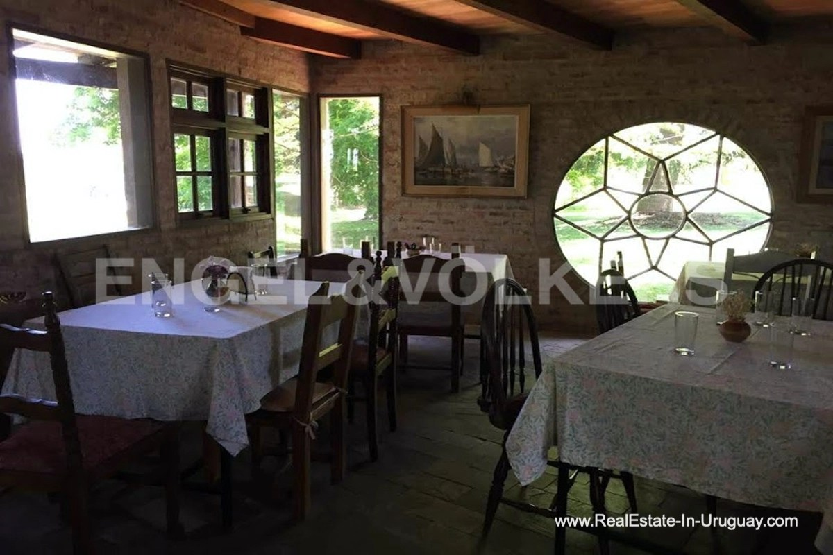 Dining Room of Farm with Organic Garden near Wineries in Canelones