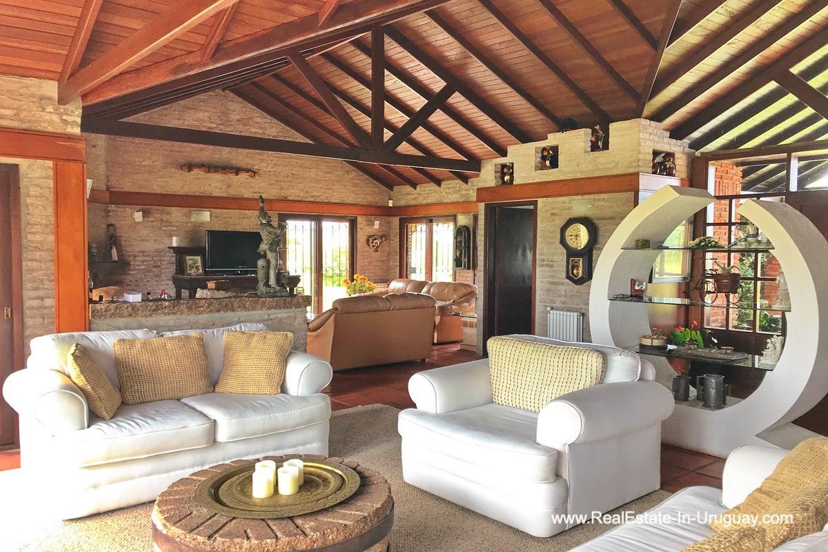 Living Room of Estancia along the Jose Ignacio River